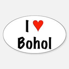 I love Bohol Oval Decal
