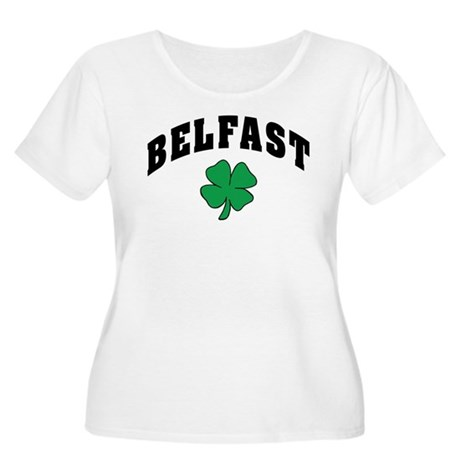 Belfast Ireland Women's Plus Size Scoop Neck T-Shi
