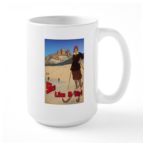 Ski Like A Girl Large Mug