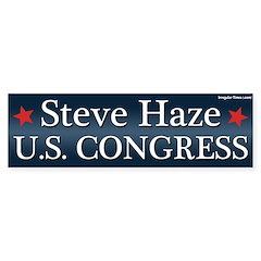 Steve Haze for Congress bumper sticker