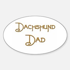 Dachshund Dad 20 Oval Decal