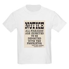 Dodge City Gun Notice T-Shirt