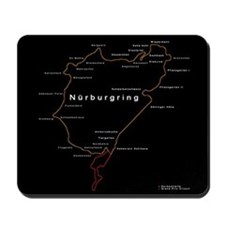 Nurburgring Map - Mousepad