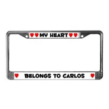 My Heart: Carlos (#004) License Plate Frame