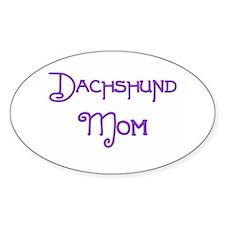 Dachshund Mom 5 Oval Decal