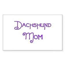Dachshund Mom 5 Rectangle Decal