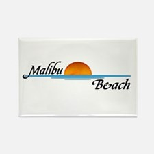 Malibu Beach Sunset Rectangle Magnet