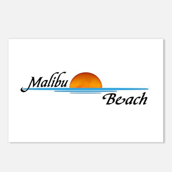 Malibu Beach Sunset Postcards (Package of 8)