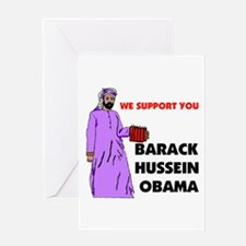SUPPORT OBAMA Greeting Card