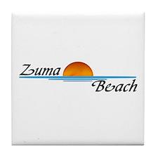 Zuma Beach Sunset Tile Coaster