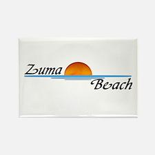 Zuma Beach Sunset Rectangle Magnet