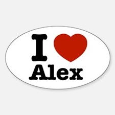 I love Alex Oval Decal