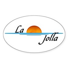 La Jolla Sunset Oval Decal
