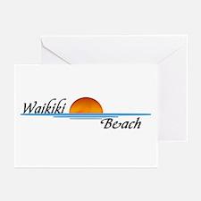 Waikiki Beach Sunset Greeting Cards (Pk of 10)