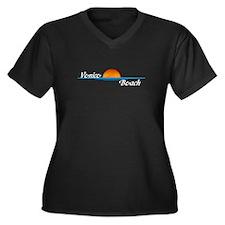 Venice Beach Sunset Women's Plus Size V-Neck Dark
