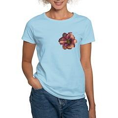 Rose w/ Violet Eye Daylily T-Shirt