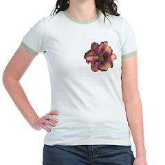 Rose w/ Violet Eye Daylily Jr. Ringer T-Shirt