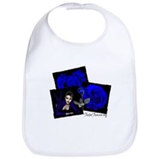 True Blue Rose Bib