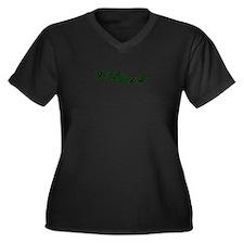 Hippy Women's Plus Size V-Neck Dark T-Shirt