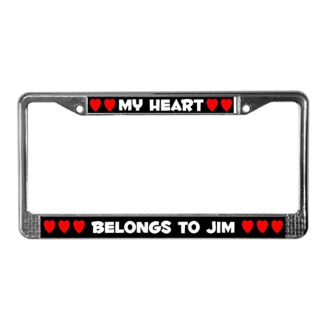 My Heart: Jim (#001) License Plate Frame