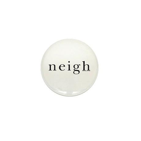 Neigh. Horse language. Mini Button