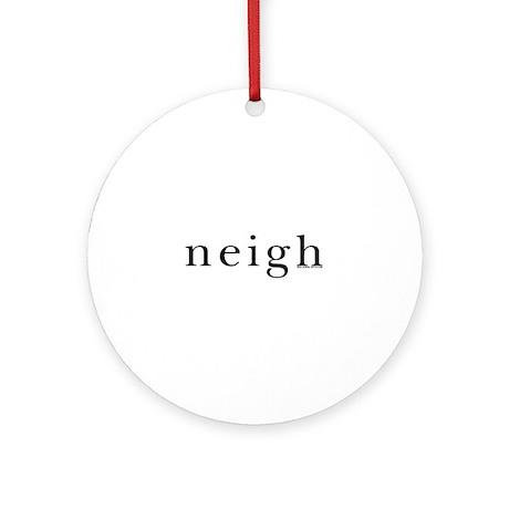 Neigh. Horse language. Ornament (Round)