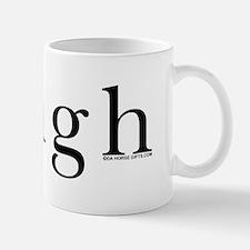 Neigh. Horse language. Mug