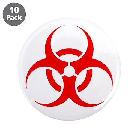 """Biohazard 3.5"""" Button (10 pack)"""
