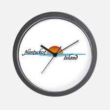 Nantucket Island Sunset Wall Clock