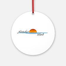 Nantucket Island Sunset Ornament (Round)