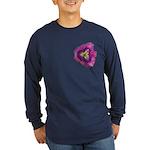Lavender Eye Daylily Long Sleeve Dark T-Shirt