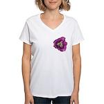 Lavender Eye Daylily Women's V-Neck T-Shirt