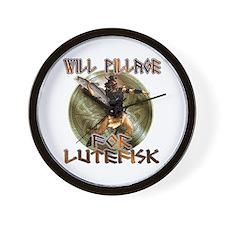 Lutefisk Scandinavian humor Wall Clock