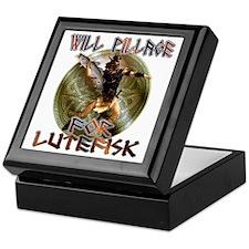 Lutefisk Scandinavian humor Keepsake Box