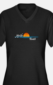 Myrtle Beach Sunset Women's Plus Size V-Neck Dark