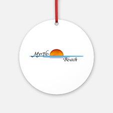 Myrtle Beach Sunset Ornament (Round)