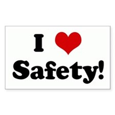 I Love Safety! Rectangle Decal