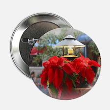 "Poinsetta under glass 2.25"" Button (10 pack)"