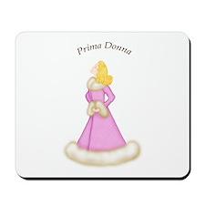 Blonde Prima Donna in Fur Trim Pink Robe Mousepad
