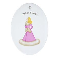 Blonde Prima Donna in Pink Robe Oval Ornament