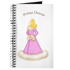 Blond Prima Donna in Fur Trim Pink Robe Journal