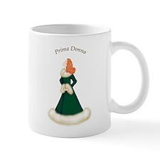Redhead Prima Donna in Dark Green Robe Mug