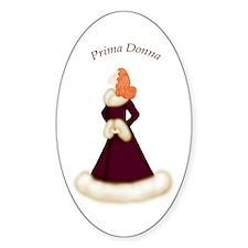 Redhead Prima Donna in Burgundy Robe Decal
