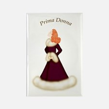 Redhead Prima Donna in Burgundy Robe Rectangle Mag