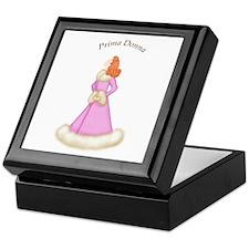 Redhead Prima Donna in Pink Robe Keepsake Box