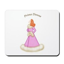 Redhead Prima Donna in Pink Robe Mousepad
