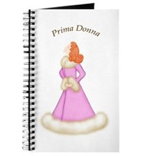 Redhead Prima Donna in Pink Robe Journal