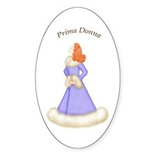 Redhead Prima Donna in Violet Robe Decal