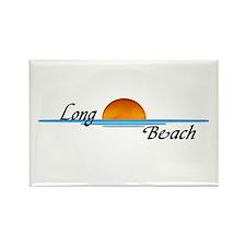 Long Beach Sunset Rectangle Magnet
