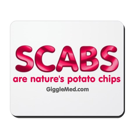Scabs Natures Potato Chips Mousepad